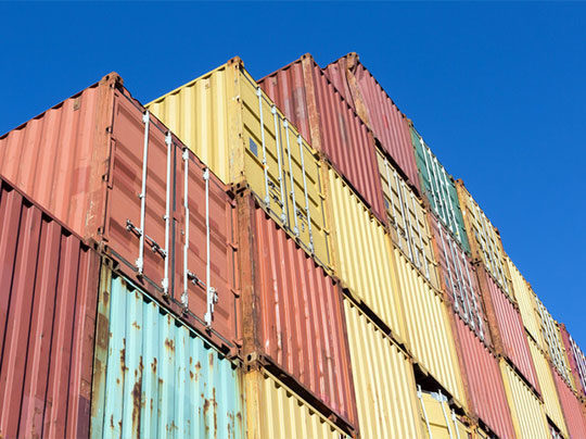 containers d'exportation