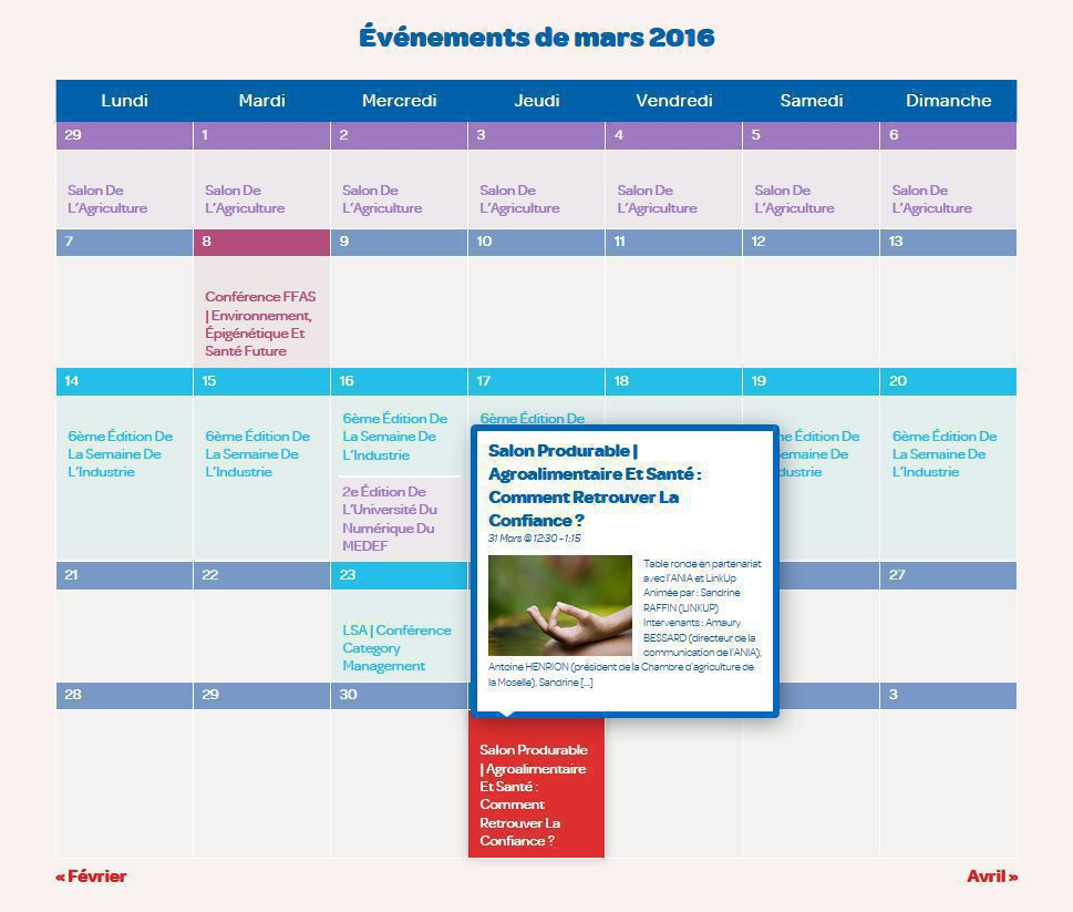 agenda calendrier des v nements agroalimentaires ania. Black Bedroom Furniture Sets. Home Design Ideas
